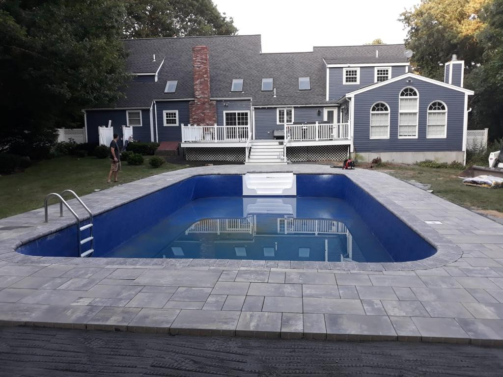 pool Apron done by Quincy Concrete Services